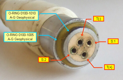 Bolt solenoid adapter cable, gun side connector