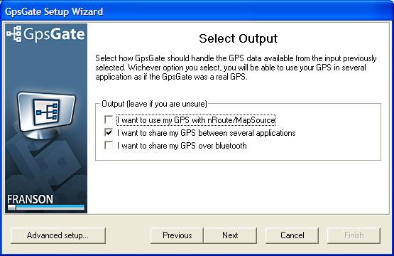 Select output