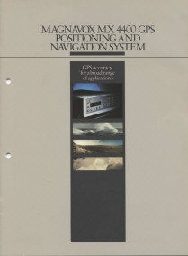 Magnavox MX 4400 GPS brochure