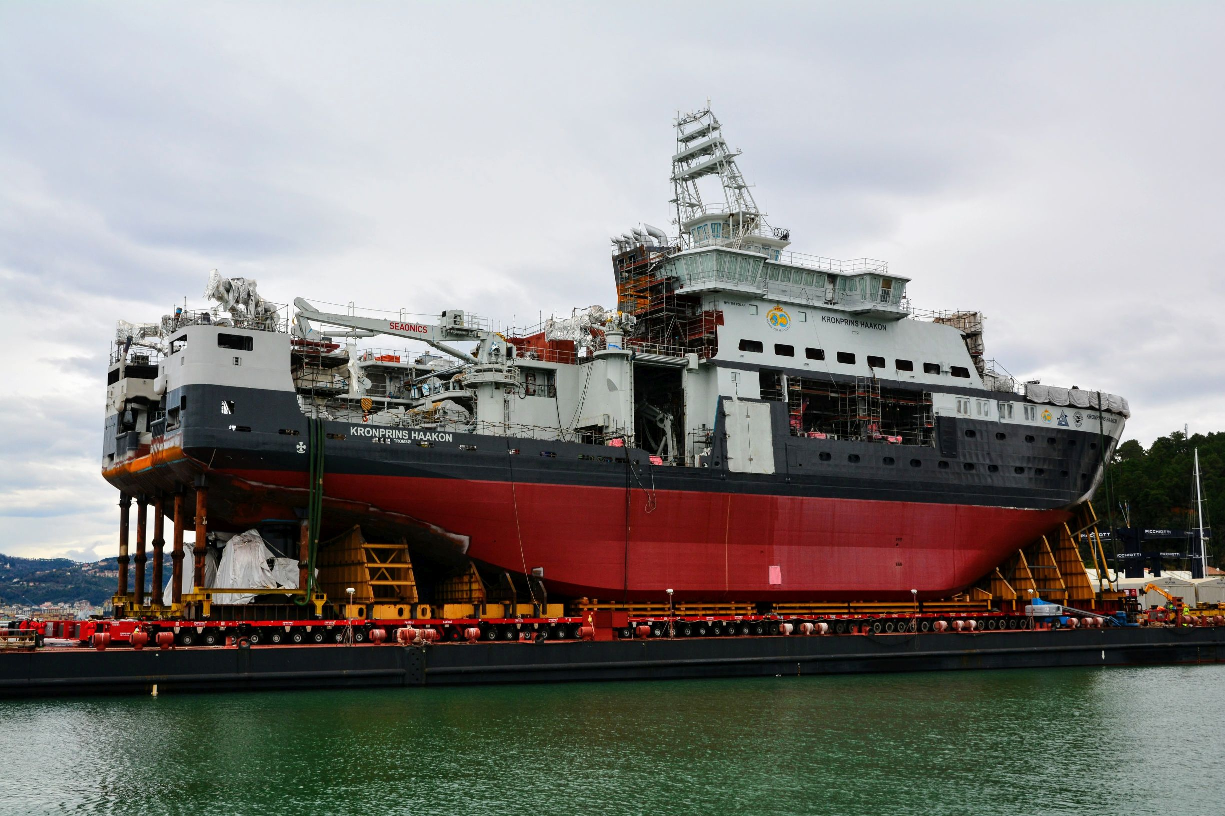 New research vessel for polar operations - RV 'Kronprins Haakon'. Click to enlarge.