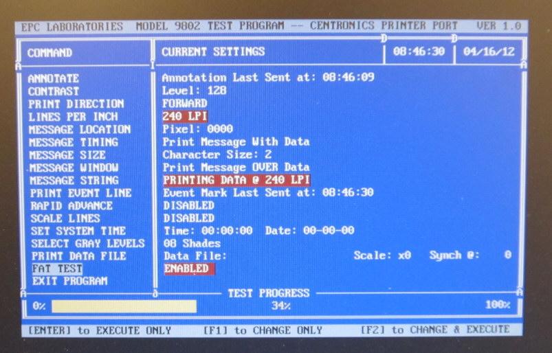 EPC Model 9802 FAT program