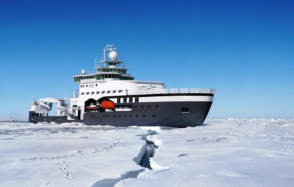 New research vessel for polar operations - RV 'Kronprins Haakon'.