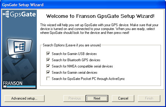 Franson GpsGate, Wizard Mode