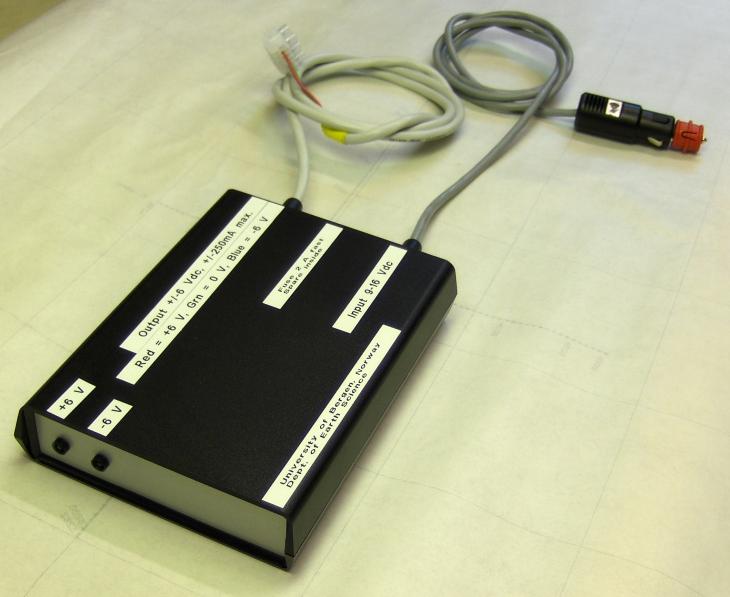 EM ice thickness sensor power suppy