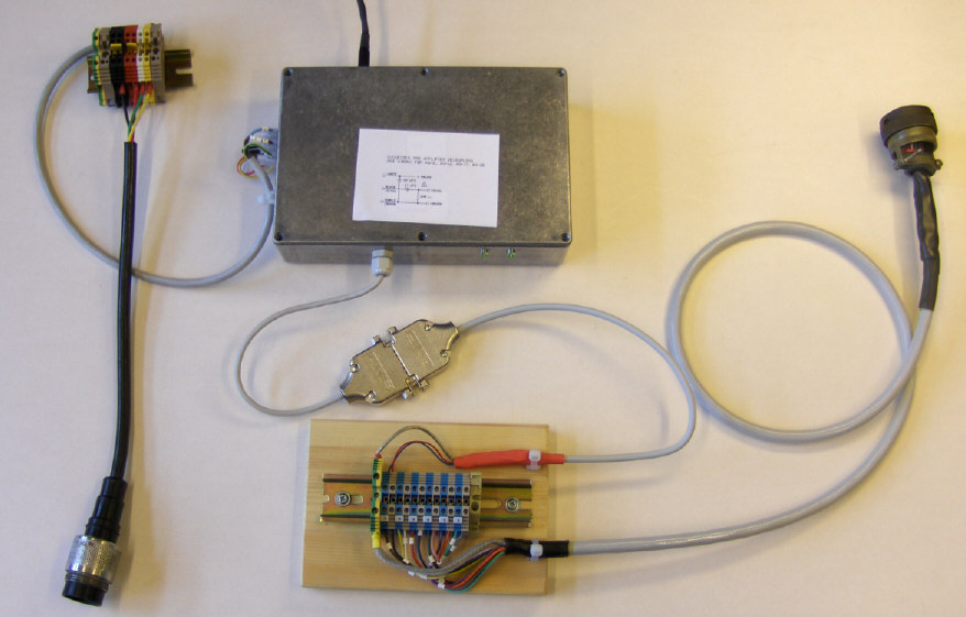Interface between Teledyne AQ-18 Hydrophone  / 6 channel mini-streamer and Geode Recording system (click to see large version)